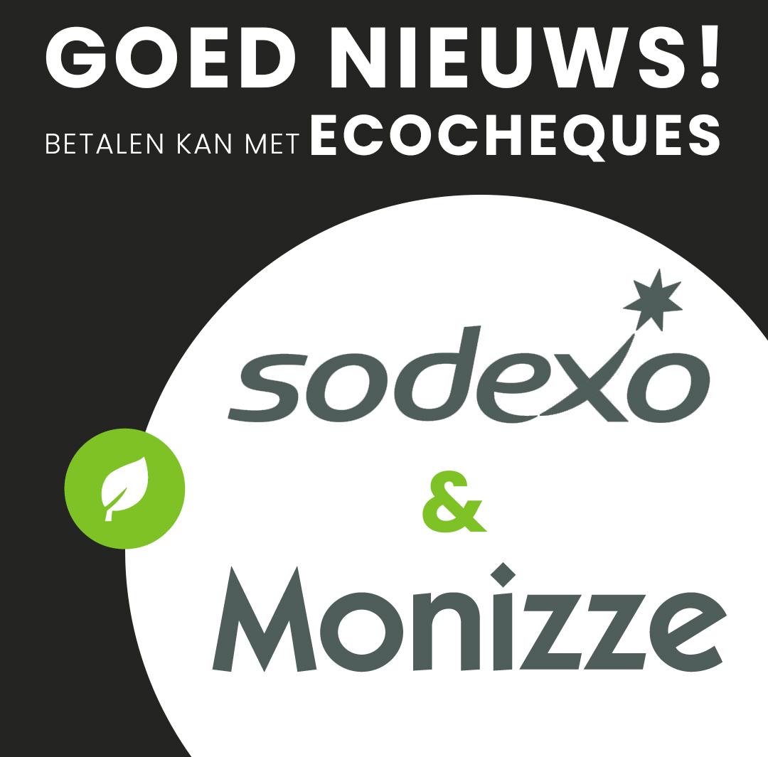 Goed Nieuws! Betalen kan nu ook online met Sodexo en Monizze. Ecocheques en Cadeaucheques!