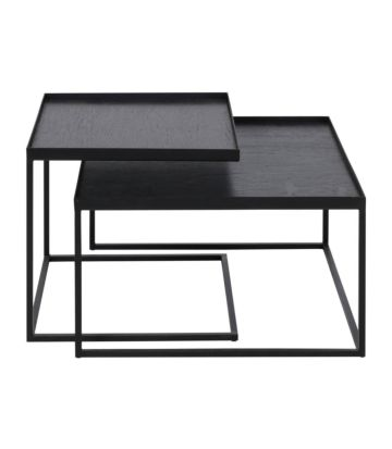 Ethnicraft Square Tray table set