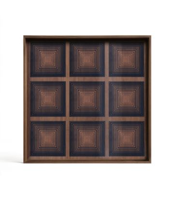 Ethnicraft Ink Squares glass tray L
