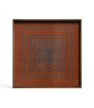 Ethnicraft Pumpkin Squares glass tray L