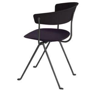 Magis Officina stoel - Kleur Leder zwart - Frame: Zwart