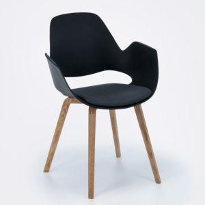 Houe Falk stoel - houten poten met armleuning