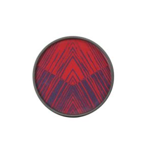 Notre Monde Midnight Linear Circles Tray - 20x20x3cm 1