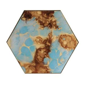 Notre Monde Teal Organic Mini Tray - HEX/L 1