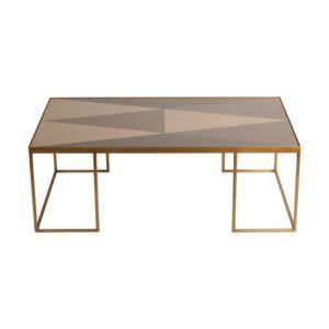 Notre Monde Geometric Bronze koffietafel rechthoekig 1