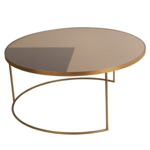 Notre Monde Geometric Bronze koffietafel rond 1