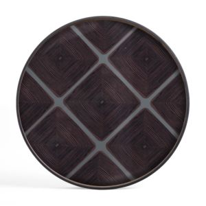 Ethnicraft Slate Linear Squares glass tray XL