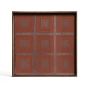 Ethnicraft Pumpkin Squares glass tray S