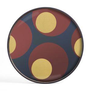 Ethnicraft Turkish Dots glass tray S
