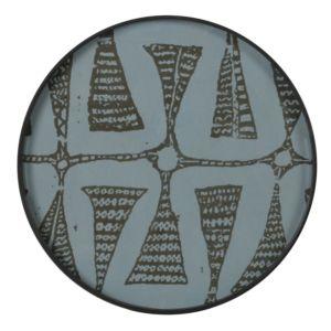 Notre Monde Graphite Bohemian - glazen tray  - RO/S