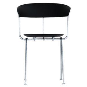 Magis Officina stoel - Kleur Zwart - Frame: Gegalvaniseerd