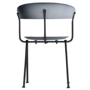 Magis Officina stoel - Kleur Metallic grijs - Frame: Zwart