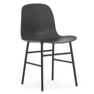 Set 5+1 Normann Copenhagen Form stoel Zwart - Poten Form Staal