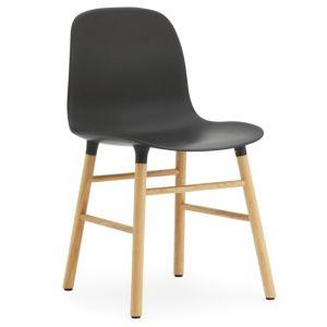 Set 5+1 Normann Copenhagen Form stoel Zwart - Poten Form Eik