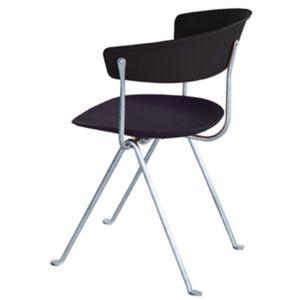 Magis Officina stoel - Kleur Leder zwart - Frame: Gegalvaniseerd