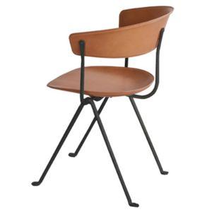 Magis Officina stoel - Kleur Leder natuur - Frame: Zwart