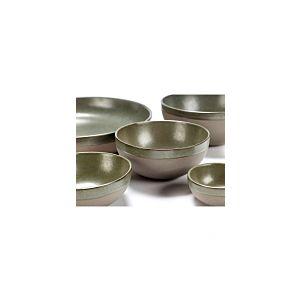 Serax Bowl L Grey/Camo Green Surface