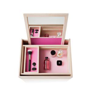 Nomess Balsabox juwelendoos - Kleur Roze 1