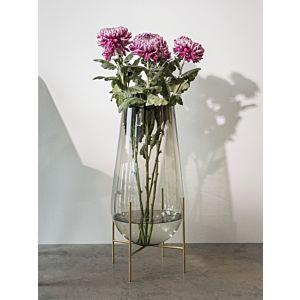 Menu Echasse Vase Brass/Clear