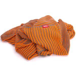 Fatboy Klaid taupe oranje - Patroon Gestreept
