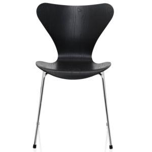 Fritz Hansen Series 7 stoel Essen-Chroom - Kleur-Afwerking Black
