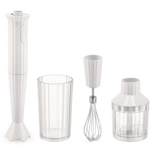 Alessi, Handblender, Plissé; Plus, wit, blanc, mixeur, 8003299446865