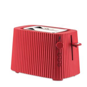 Alessi, toaster, Plissé, rood, rouge, grille-pain, 8003299446612, MDL08 R Plissé