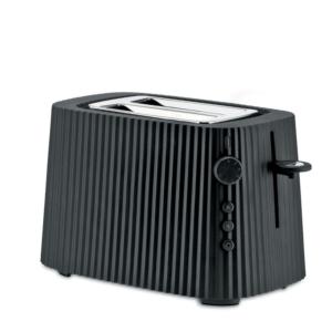 Alessi, toaster, Plissé, zwart, noir, grille-pain, 8003299446582, MDL08 B Plissé