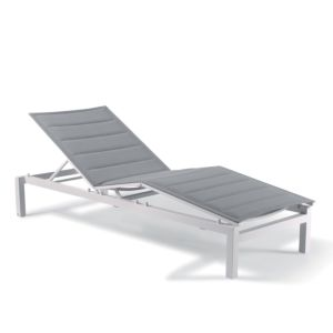 Gescova Tremezzo sunlounger - Color :  White - Light grey