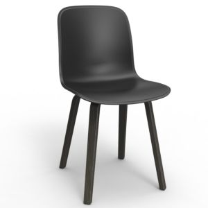 Magis Substance Chair-zwart gebeitste poten