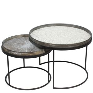 Notre Monde Tray table set laag met dienbladen