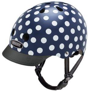 Nutcase Street Navy Dots fietshelm