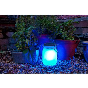 Suck Uk Sun Jar solarlamp SET-Blauw