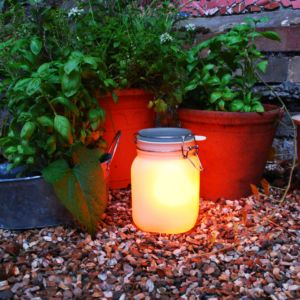 Suck Uk Sun Jar solarlamp SET-Geel