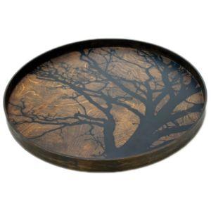 Notre Monde Black Tree Tray - 61 x 61 x 4cm 1