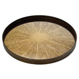 Notre Monde Bronze Slice Tray - 61 x 61 x 4 cm 1