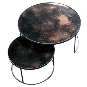 Notre Monde set koffietafels - Kleur: Bronze