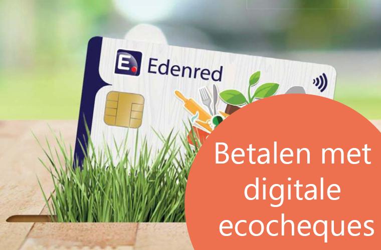Betalen met digitale ecocheques Edenred